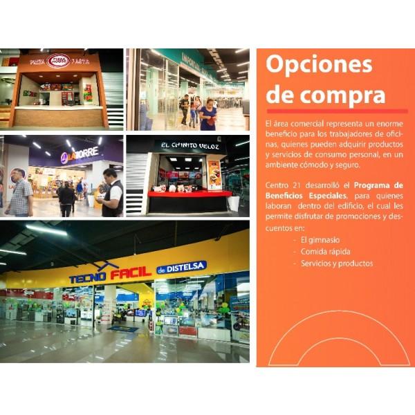 Centro 21 Oficinas y Áreas Comerciales en Renta Zona 7